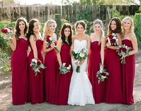 Long Bridesmaid Dress Sweetheart Bridesmaid Dress Chiffon