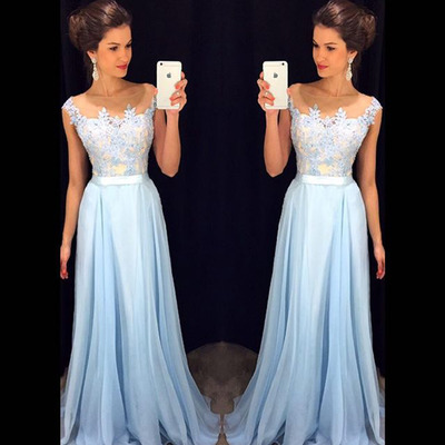 Long Lace Evening Dress Party Dress Vestido De Festa Longo