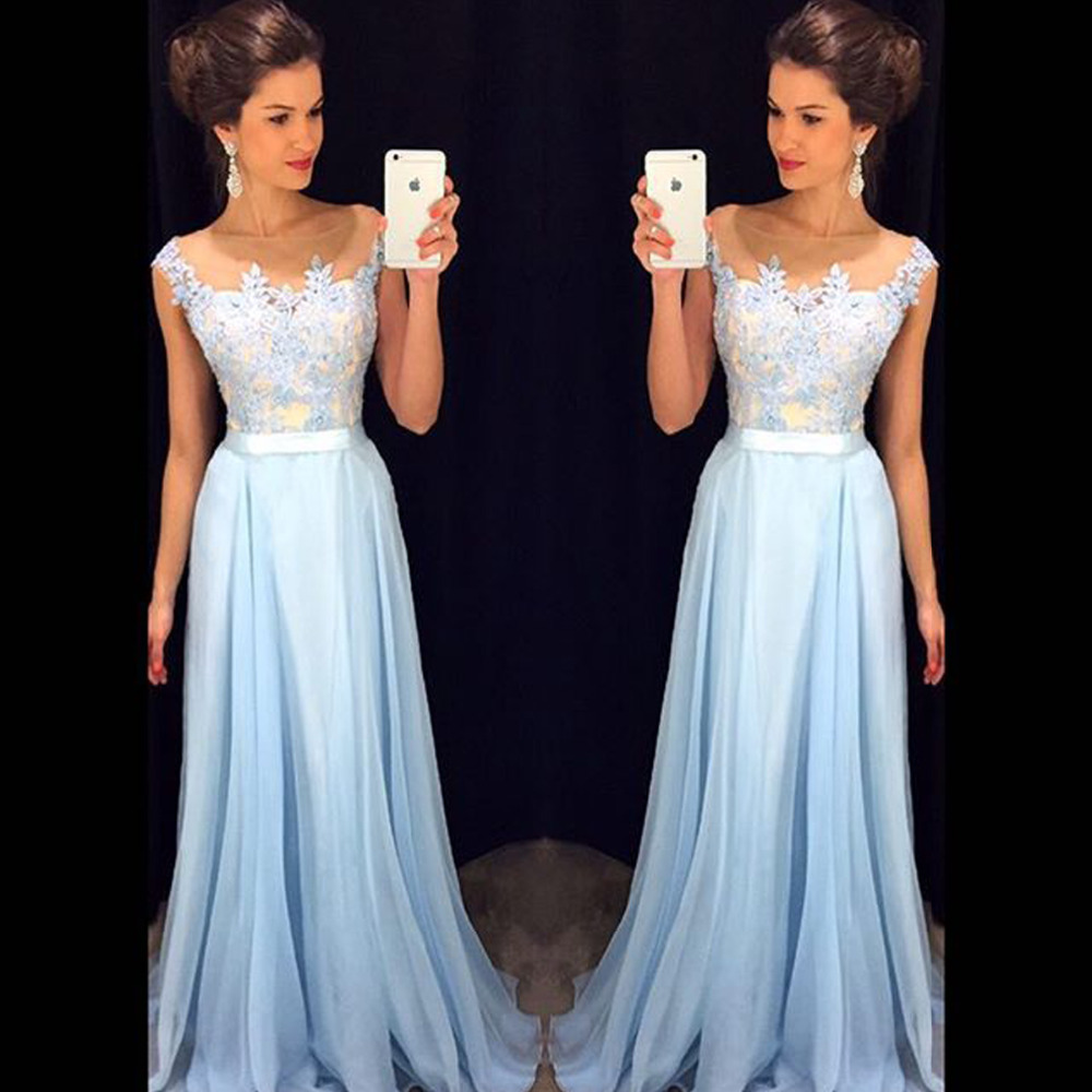 Long Lace Evening Dress Party Dress Vestido De Festa Longo Light ...