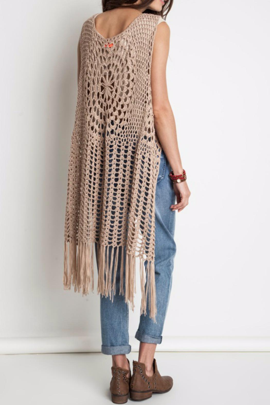 Harlow Crochet Vest By Umgee Taupe On Storenvy