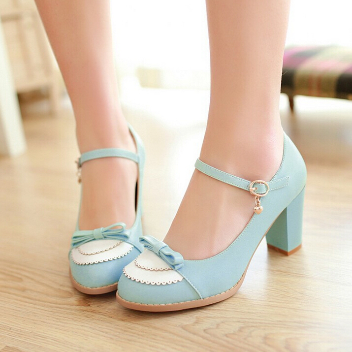 5d00d31df8e01 Japanese cute sweet bowknot princess high heels