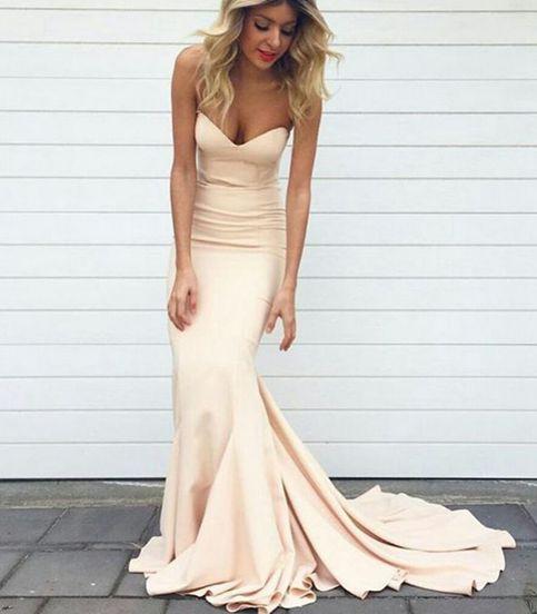 Champagne mermaid prom dress,champagne evening dresses · Dream Prom ...