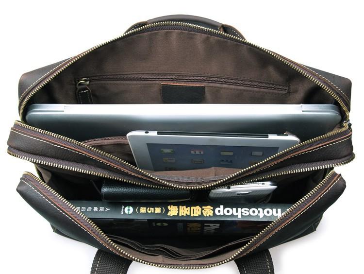 2366906463 ... Handmade Vintage Leather Briefcase / Leather Messenger Bag / 13