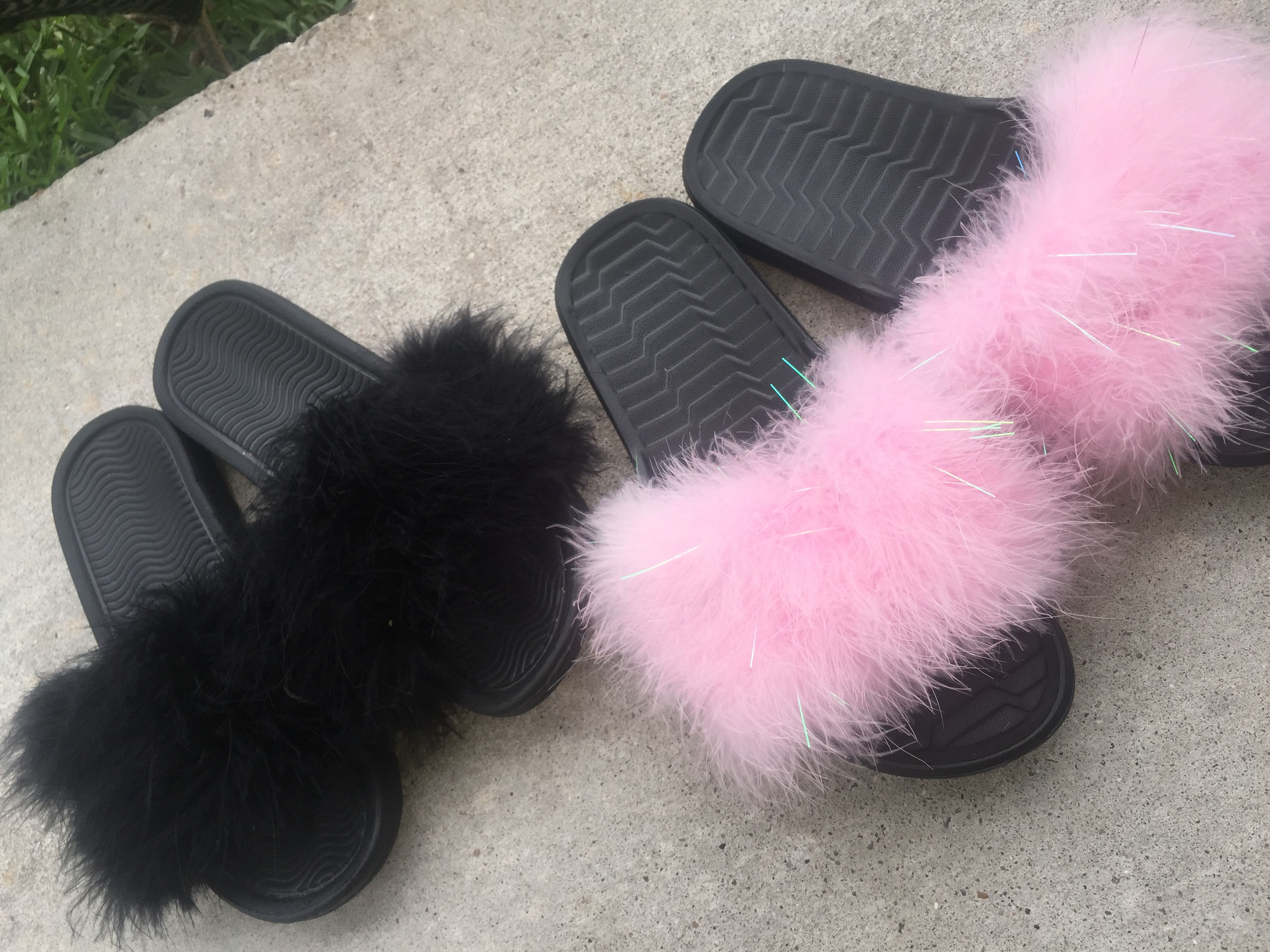 e30dd1f57eb Glam Fluffy Slides on Storenvy
