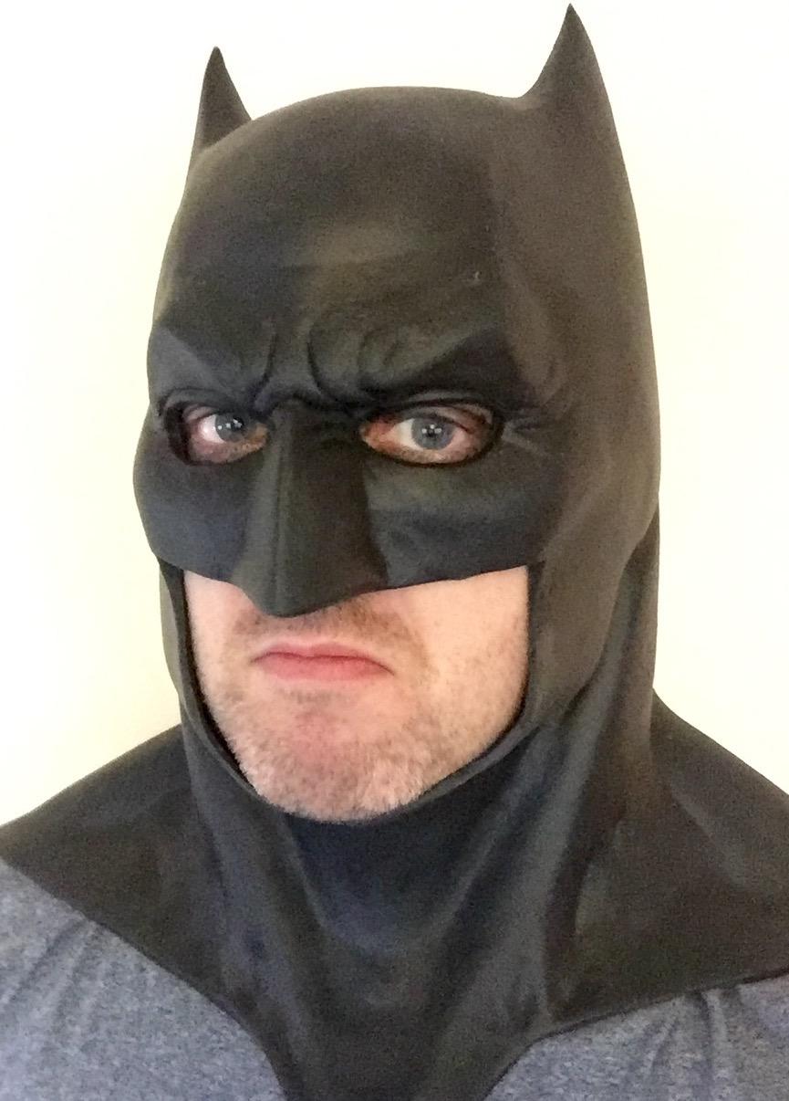 Batman v Superman Dawn of Justice Batman Costume Cowl Mask ...