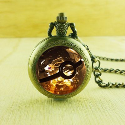 c5595a44b New retro charm pokeball jolteon pocket watches unique necklace,gift necklace  pendant,for women