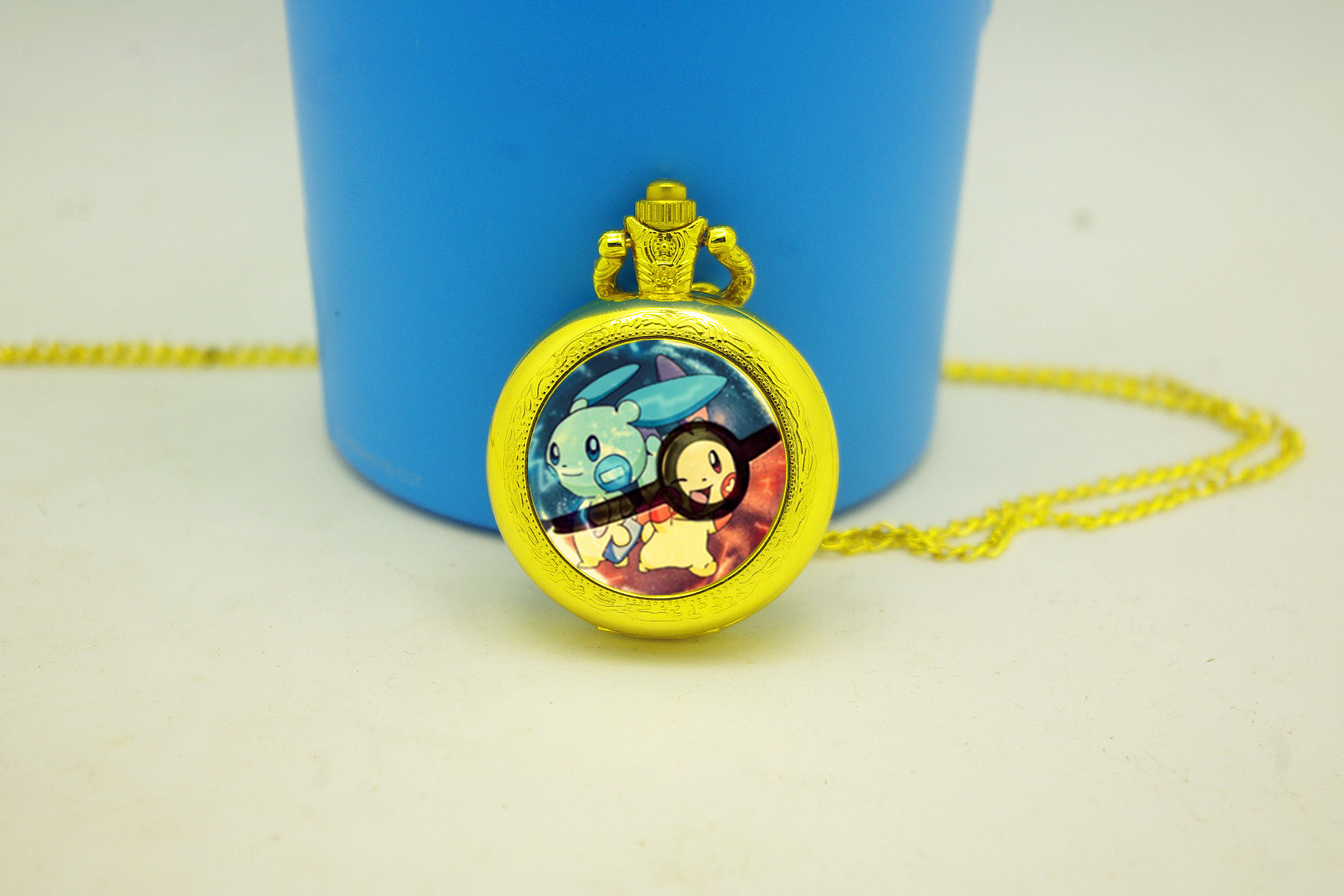 34a8f97fe Hot Sell Retro Charm Pokeball Prasle&Minun Pocket Watches Unique ...
