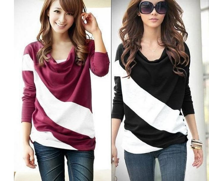 Cute Loose Tees Long Sleeve Top Women Shirt Blouse on Storenvy