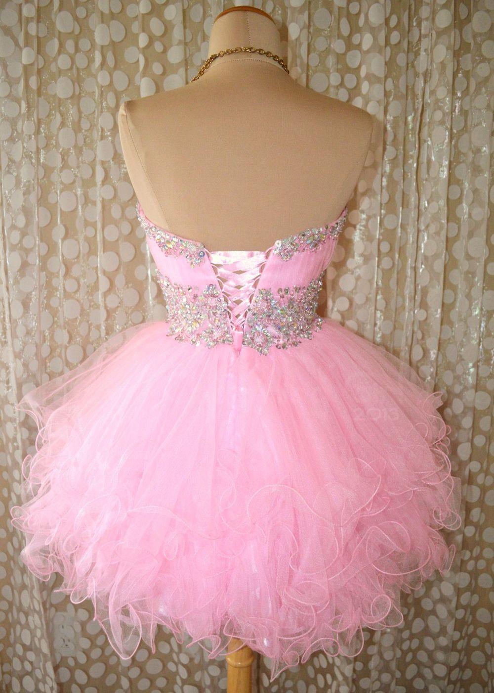 Charming Light Pink Tulle Short Prom Dress Evening Dresses On Storenvy