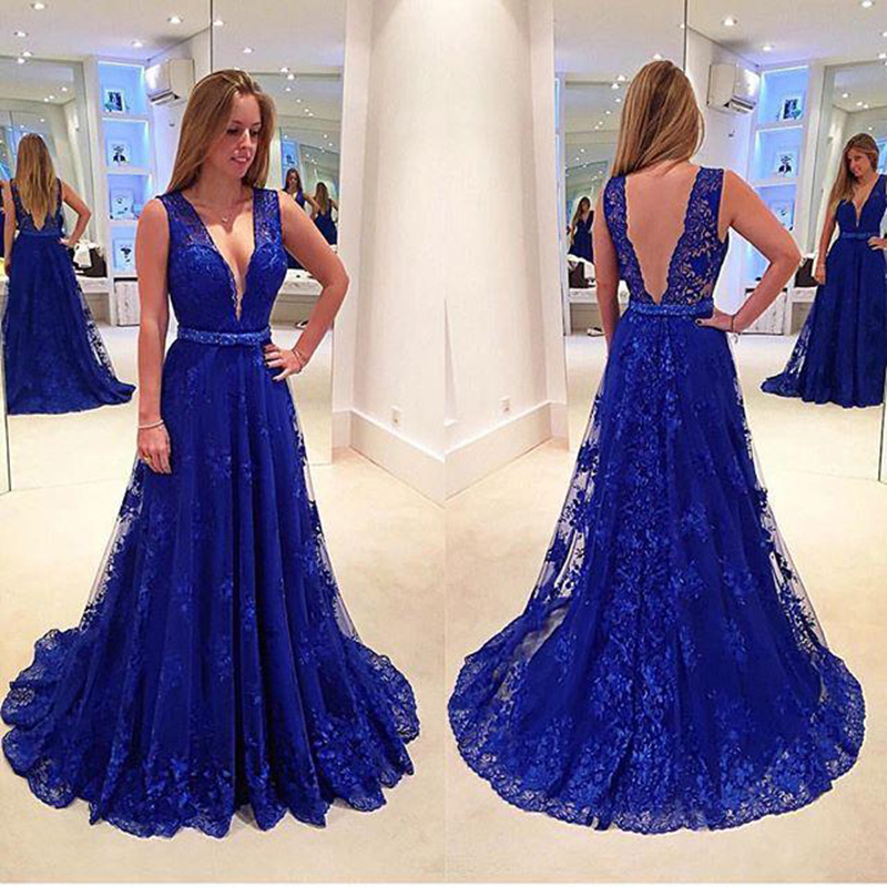 Prom Dressroyal Blue Prom Dresssexy Backless Prom Dressescustom