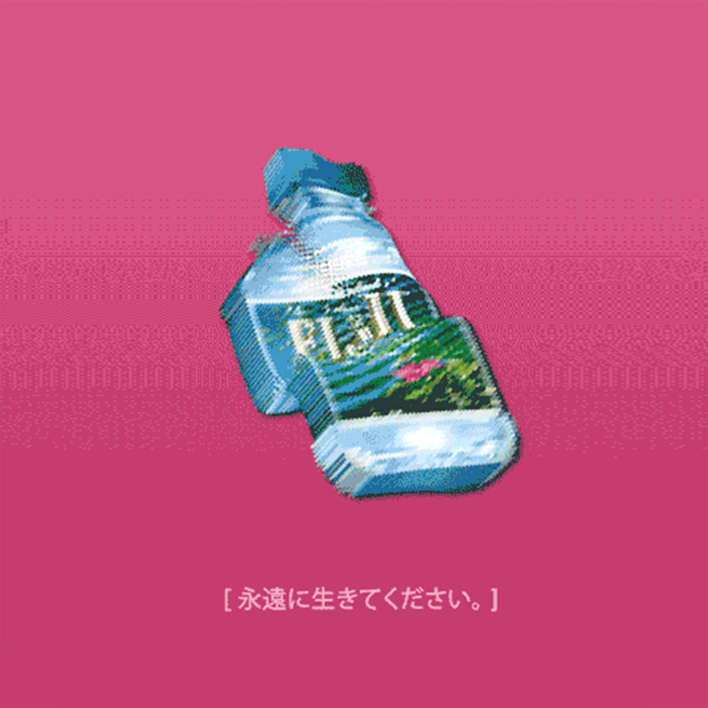 UNISEX VAPORWAVE JAPANESE FIJI WATER T SHIRT IN WHITE on Storenvy