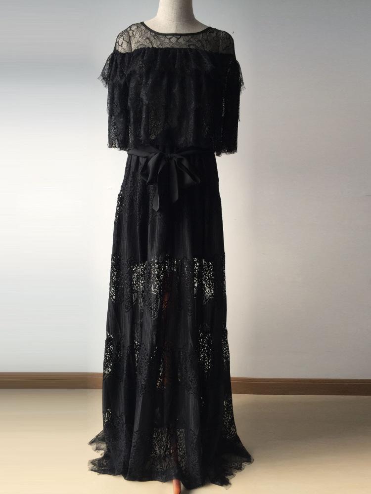 Black Widow Luxury Lace Dress sold by Milano Fashion