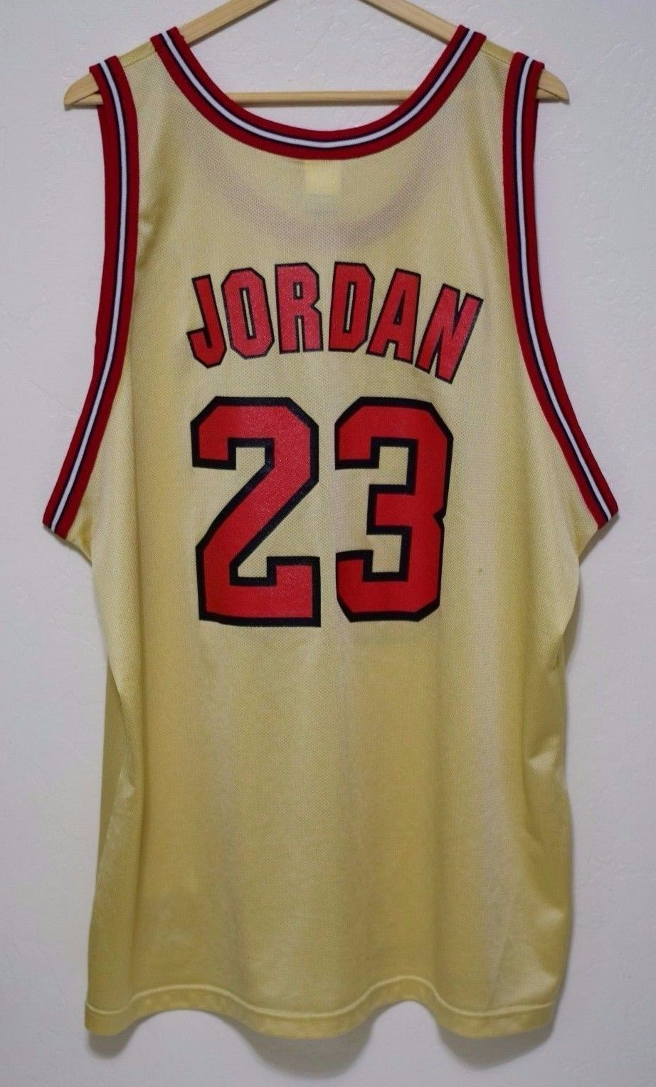 huge discount b1897 2451b Size 52 | Vintage 90s Michael Jordan Chicago Bulls GOLD Champion Jersey  Drake sold by BucksVintage