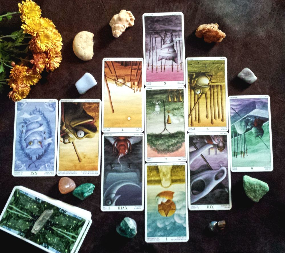 Journey Spread - To see what lies ahead of you in a 10 tarot oracle card  reading by professional psychic from This Crooked Crown