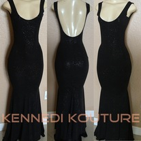 """e1957f7ca4 CUSTOM """"YELLO"""" SEQUIN HIGH NECK CUT OUT SHOULDER DRESS · KENNEDI KOUTURE   280.00. 1. Envy This Collect."""