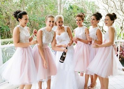 Cute Lace Bridesmaid Dresses