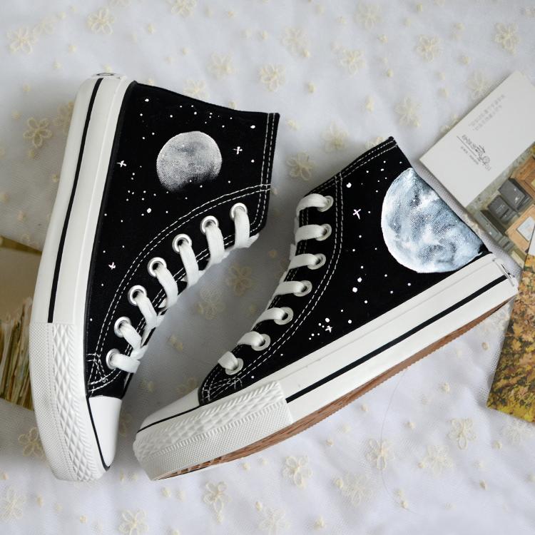 0372481eacf4 Harajuku cosmic moon painted shoes · Harajuku fashion · Online Store ...