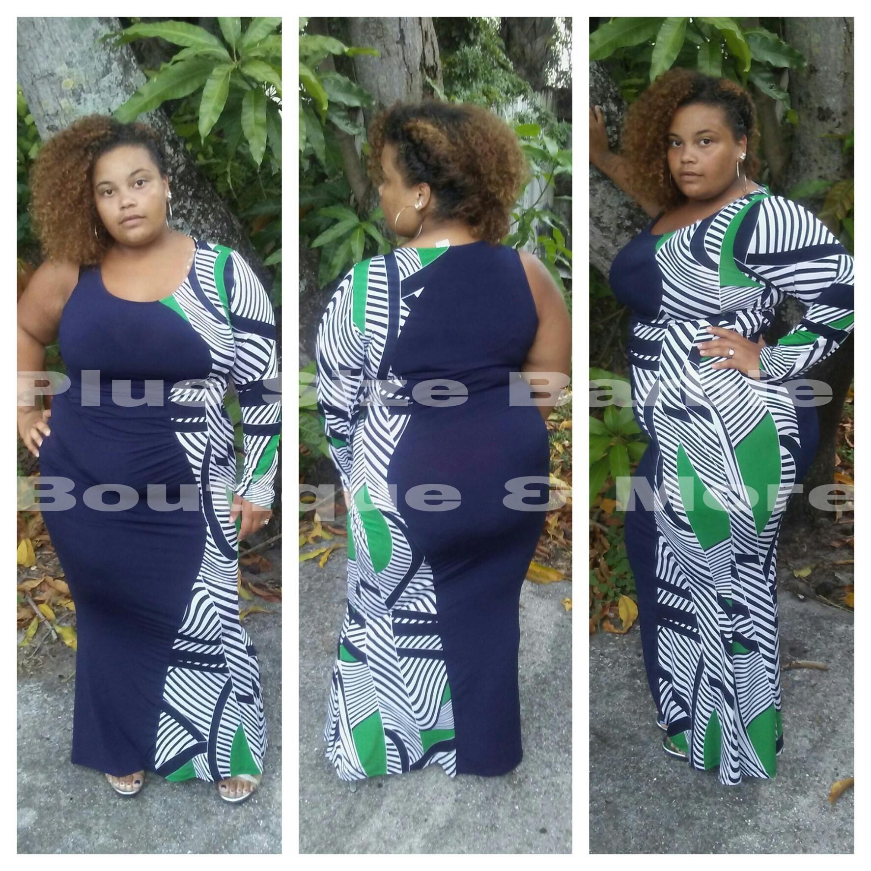 2186bc95ba5 Single Gal Mermaid style Maxi Dress · Plus Size Barbie Boutique More ...