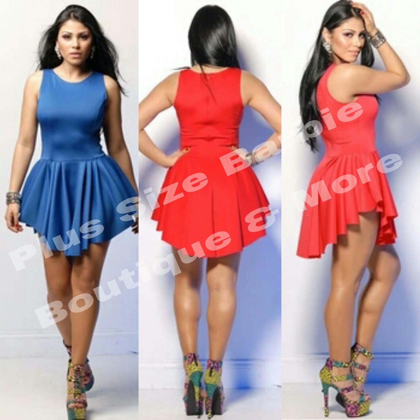 516bc447955 Ariana Blue Romper Dress · Plus Size Barbie Boutique More · Online ...