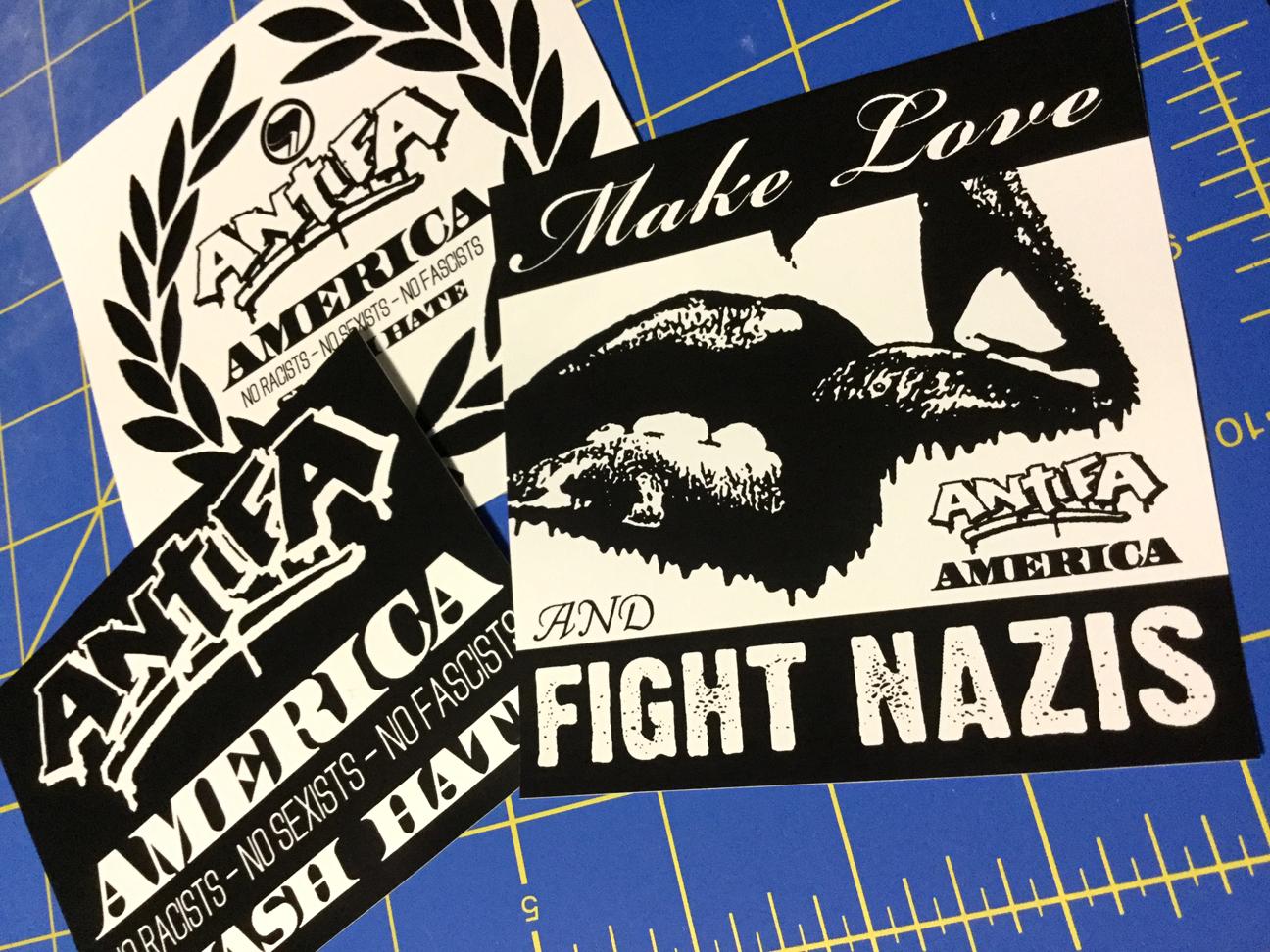 Antifa America - Vinyl Sticker Pack v01 from Populous Ephemera