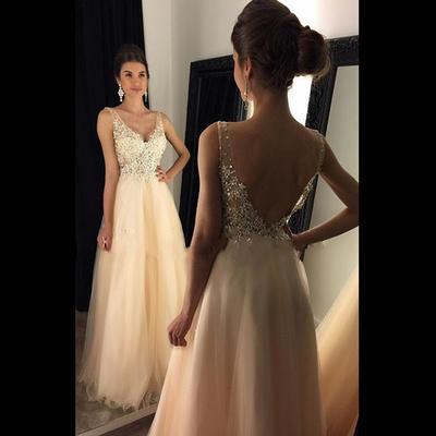 91902f6bac332 Backless V-Neck Long Prom Dress,Evening Dress,Charming Prom Dresses,BG104