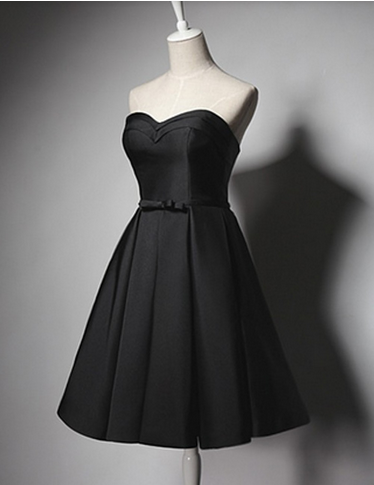 Vintage Simple Black A Line Homecoming Dressshort Prom Dresses