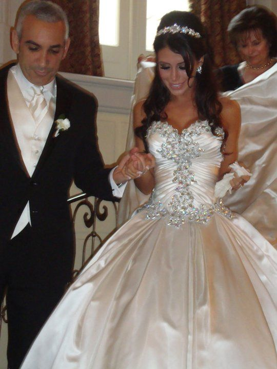 eb071c435adb ... Wedding Dress Ball Gown Sweetheart Ivory Rhinestones Beads Satin Wedding  Dresses Bridal Gowns - Thumbnail 2 ...