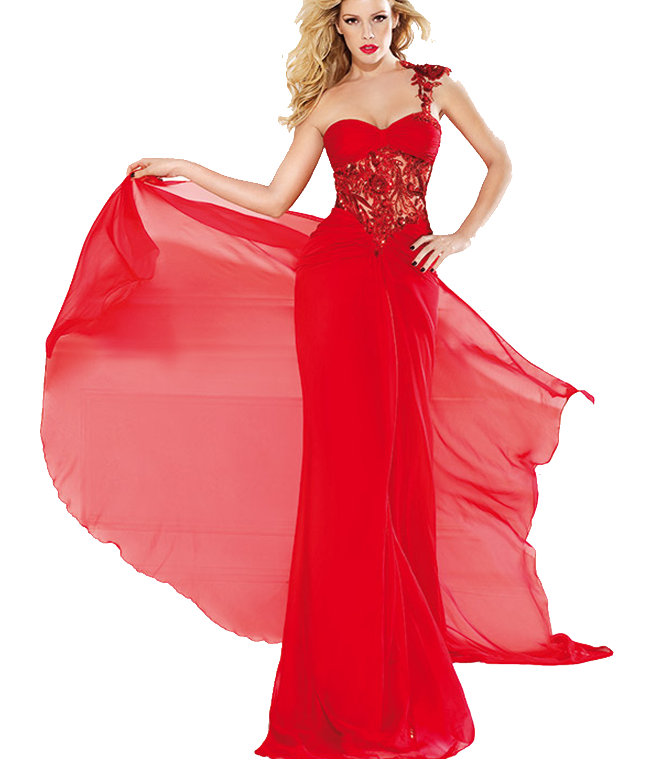 5e90d71d776 J174 Sexy One Shoulder Handmade Appliques Long Red Chiffon Prom Dresses, Hot  Red Homecoming Dresses ...