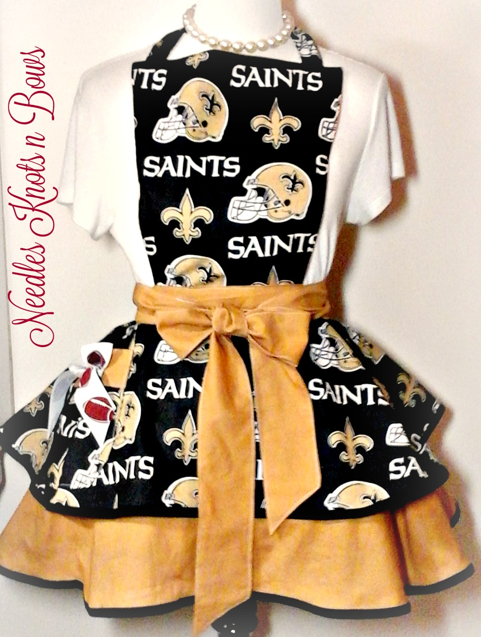 New Orleans Saints Womens Apron Womens Saints Flirty Apron