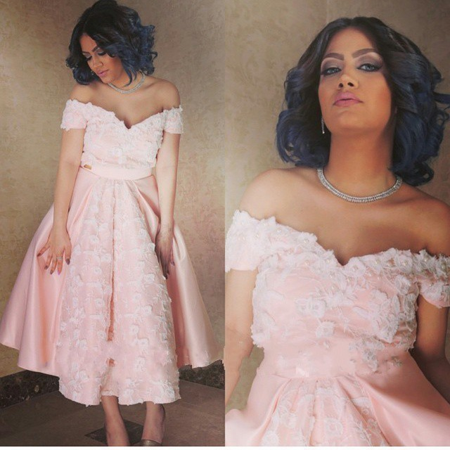 Saudi arabic dubai short prom dresses 2016 abendkleider off the shoulder  tea length party evening dress 5bd40481444a