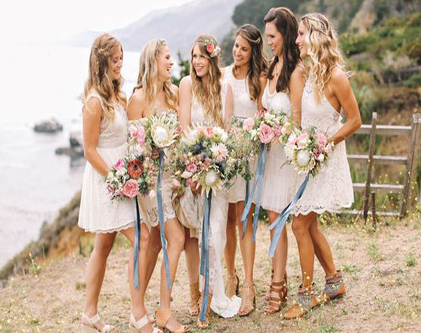 Short Bridesmaid Dress Bohemian Bridesmaid Dress Beach Wedding Party Dress For Bridesmaid Lace Bridesmaid Dress Bridesmaid Dresses From Bellabridal