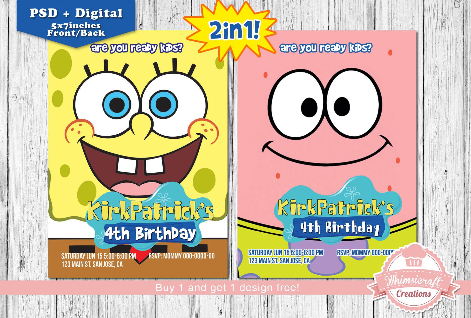 Spongebob 20invitation 20mockup Original