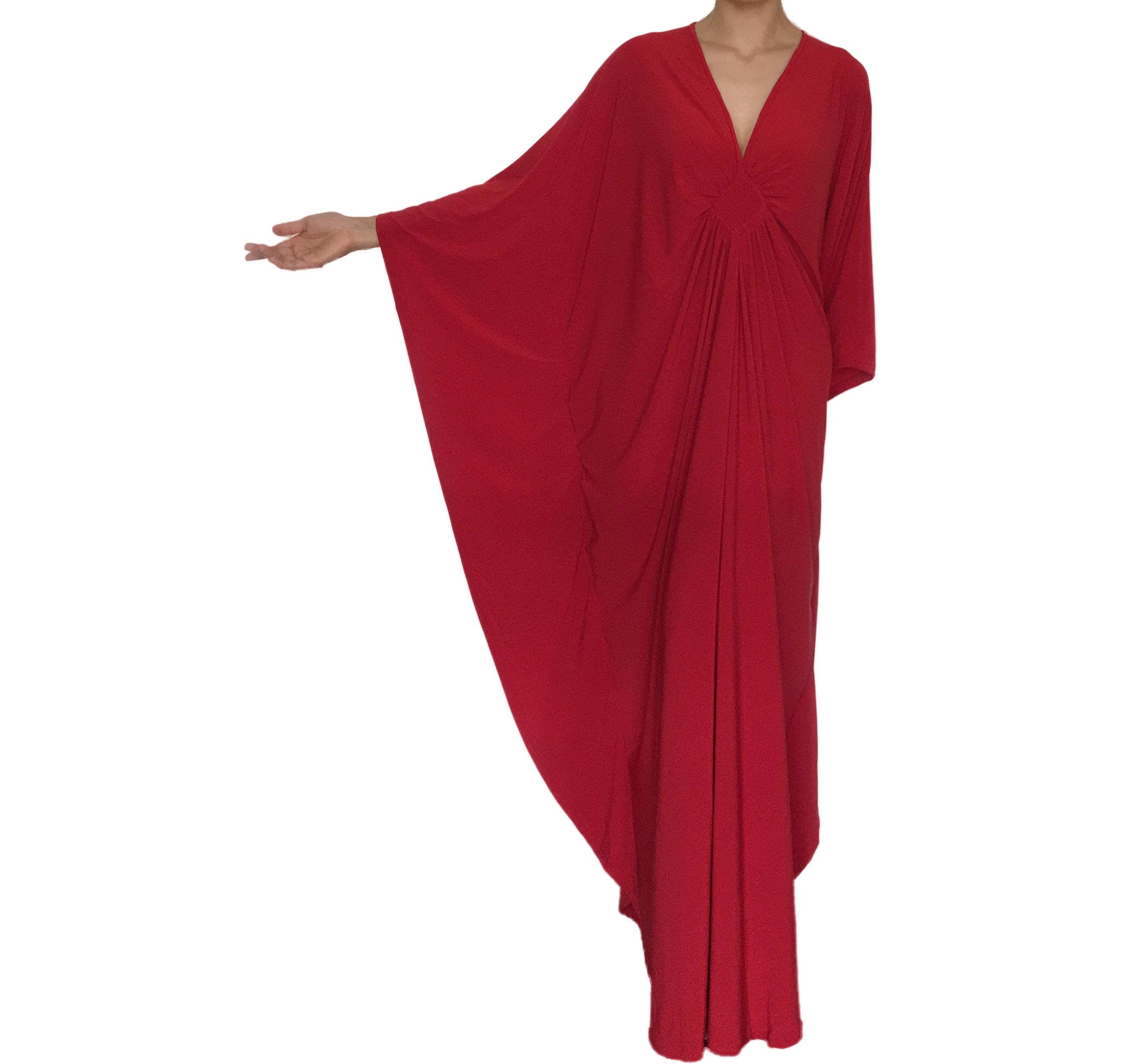 Bridesmaid Wedding Party Plus Size Maxi Kaftan Dresses Red on Storenvy