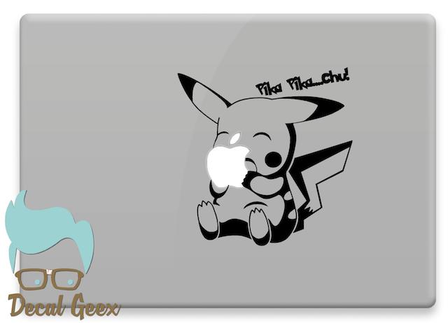 Pokemon pikachu pika pika macbook laptop sticker decal