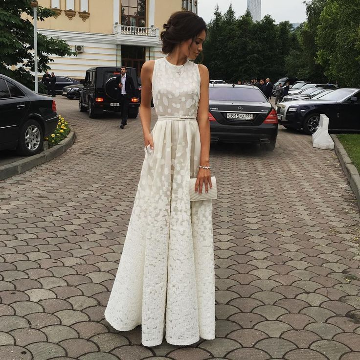 Sexy white formal dress