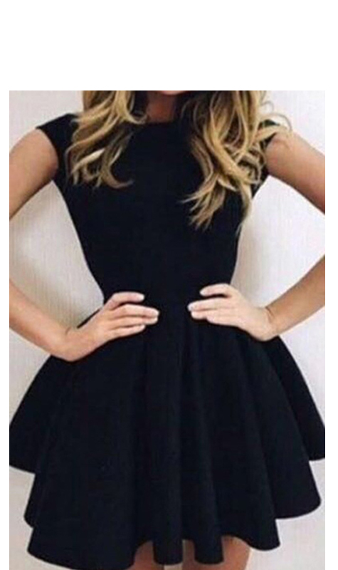 Short Homecoming Dressblack Homecoming Dresssimple Homecoming