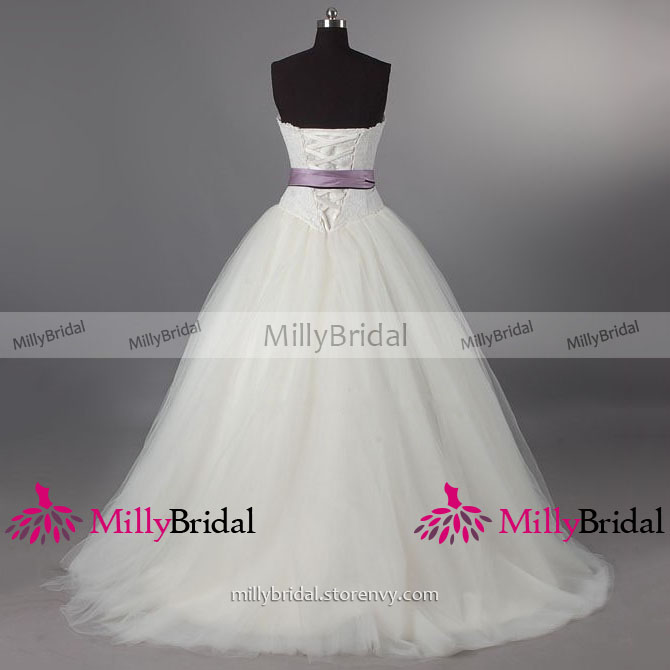 631d7fc1dbe Appealing Sweetheart Lace-up Long Wedding Dress