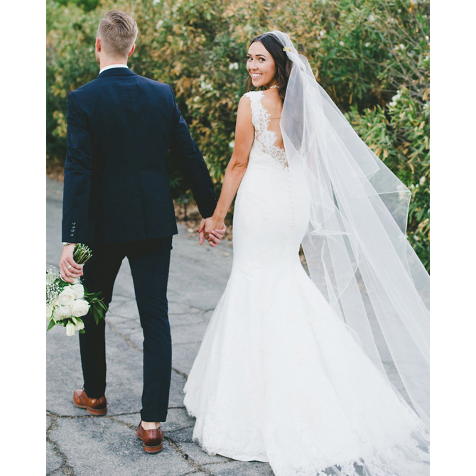 505b2ab50a273 Sexy Lace Trumpet Long Wedding Dress