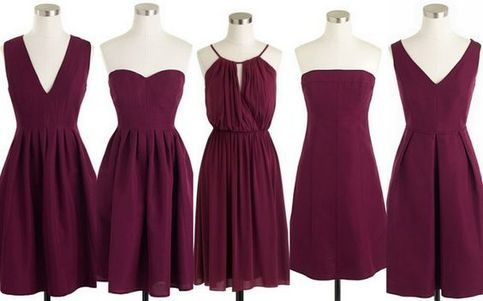 Mismatched Purple Short Chiffon Wedding Guest Dress
