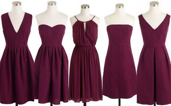 Mismatched Purple Short Chiffon Wedding Guest Dress Bridesmaid Dresses Fs9365 From Romanticdress