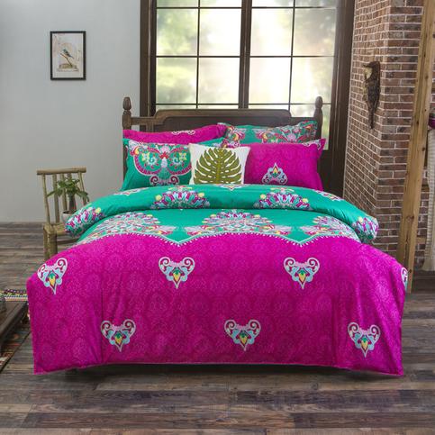 Bohemian Bedding Set Boho Duvet Cover Set Bohemia Exotic Bedding Set Chinese Bedding Set 4pcs
