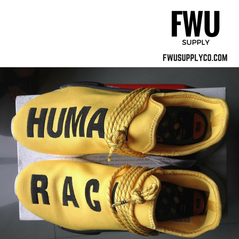 best service eab3f 18210 Authentic UA Adidas NMD Human Race- Yellow/Black sold by FWU Supply