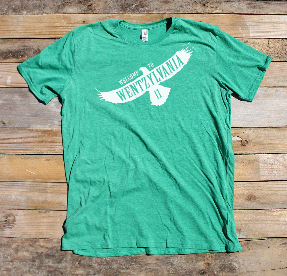 premium selection f901a ffcf3 Welcome To Wentzylvania Philadelphia Eagles Tee sold by Offbeat Outlet