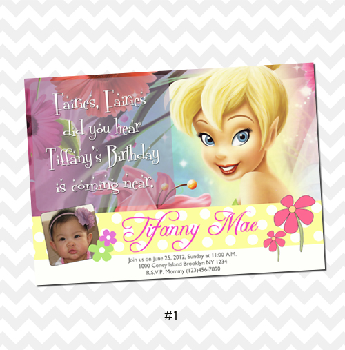 Card Tinkerbell Invitation Original