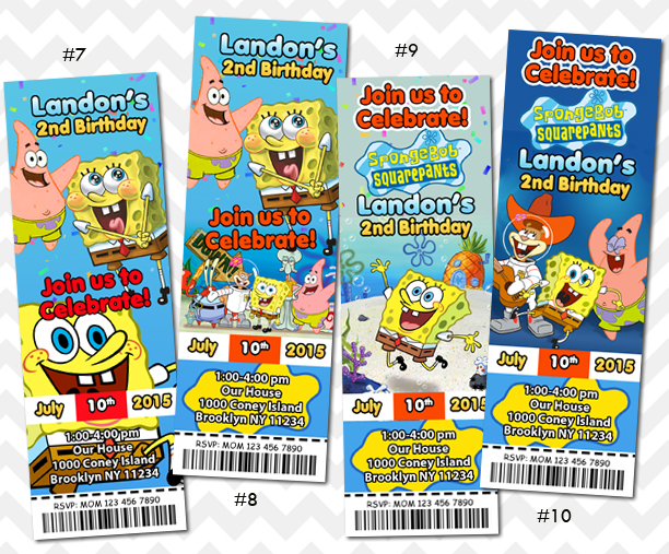 Spongebob Invitation Spongebob Birthday Party on Storenvy