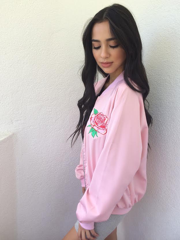 ce3f6f3f11 Motel Rocks- Rose Printed Bomber Jacket