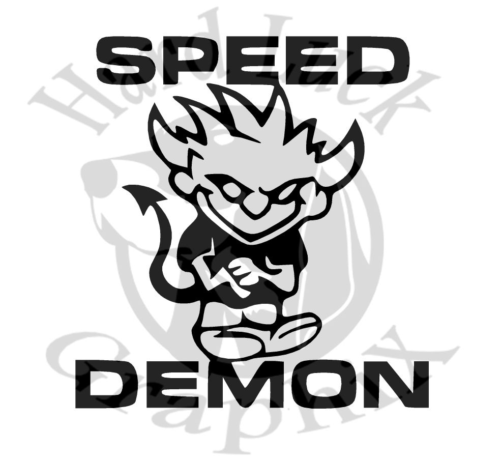 Speed demon 6 decal