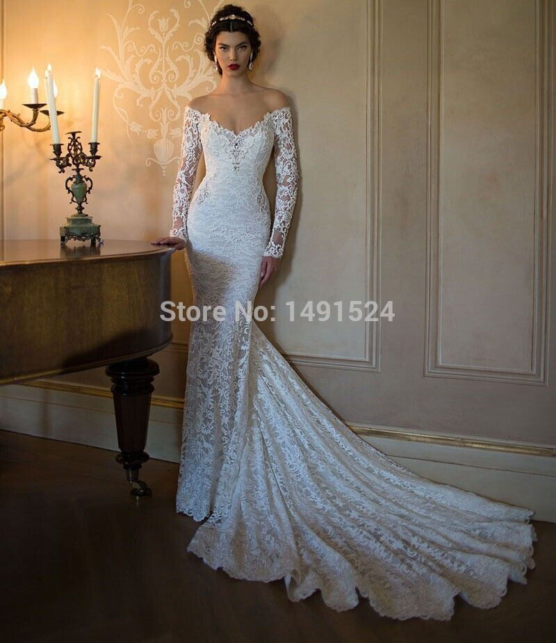 Lace Wedding Dresses 2017 Illusion Long Sleeve Bridal Gown