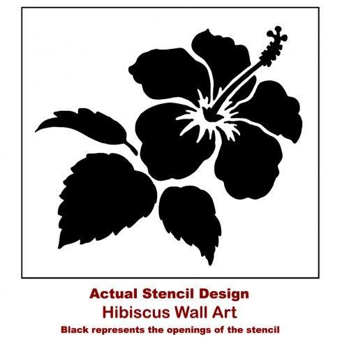 Hibiscus Wall Art Stencil - Tropical Stencils for DIY Wall Art ...