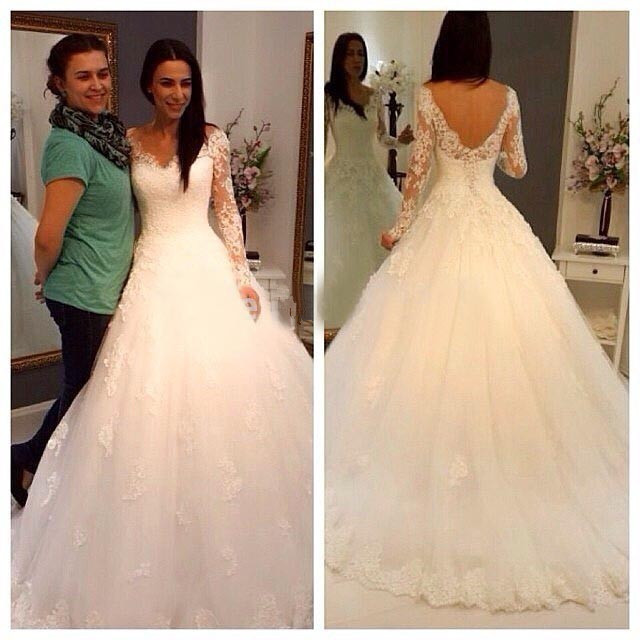 Tulle and Lace Wedding Dress Deep V Back · Onlyforbrides · Online ...